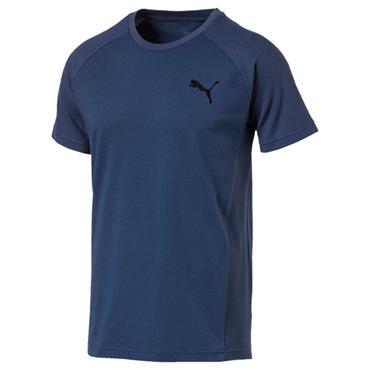 MENS EVOSTRIPE MOVE TSHIRT - NAVY