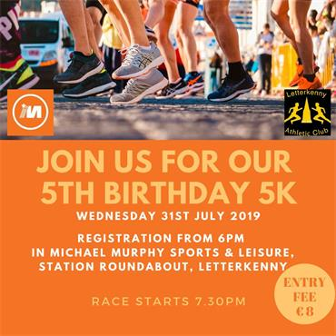 Michael Murphy Sports and Leisure 5th Birthday 5K - N/A