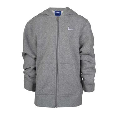 BOYS BRUSHED FULL ZIP HOODIE - GREY
