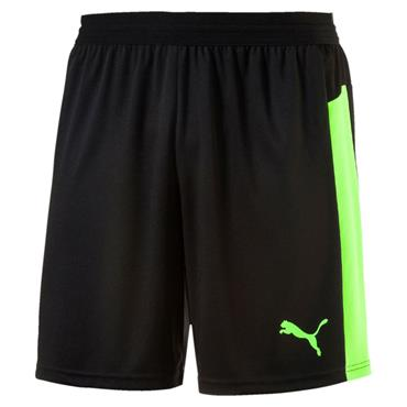 PUMA KIDS EVO TRAINING SHORTS - BLACK/GREEN