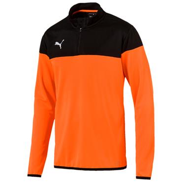 MENS QUARTER ZIP TOP - ORANGE/BLACK
