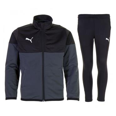 PUMA Boys Poly Tracksuit - Black/Grey