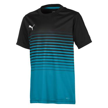 KIDS PUMA GRAPHIC SHIRT JR - BLACK/BLUE