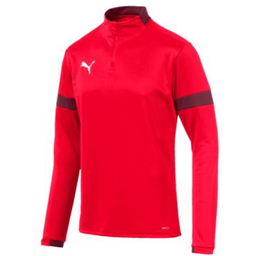 PUMA Mens Half Zip Top - Red