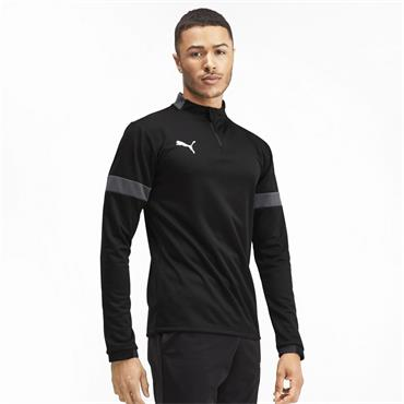 PUMA Mens Half Zip Top - BLACK