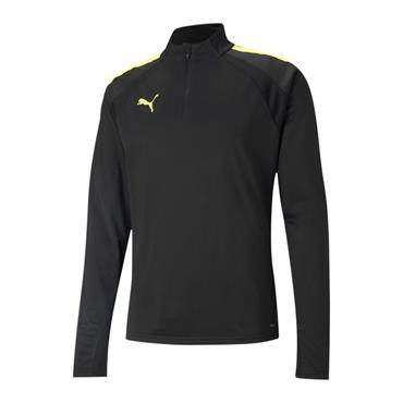 PUMA MENS TEAM LIGA 1/4 ZIP TOP - BLACK