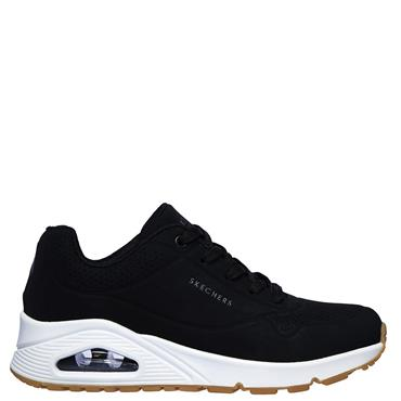 Skechers Womens Uno Stand on Air Trainers - BLACK