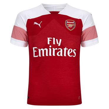 ADULTS ARSENAL FC HOME JERSEY 2018/19 - RED/WHITE