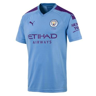 PUMA Mens Man City Home Jersey 2019/20 - Blue