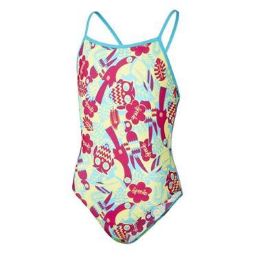 Speedo Seasquad Swimsuit - Blue/Yellow