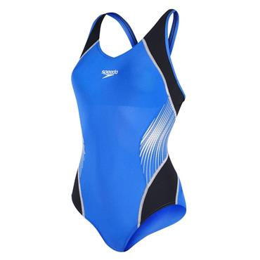 Speedo Womens Muscle Fit Swimsuit - BLUE