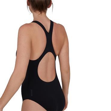Speedo Womens Endurance+ Medalist Swimsuit - BLACK