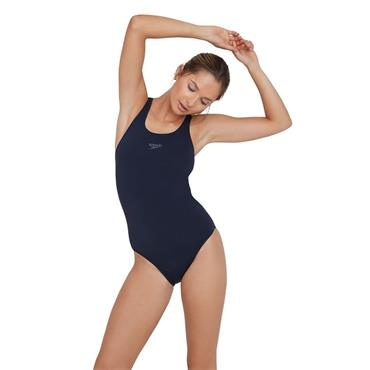 Speedo Womens Endurance+ Medalist Swimsuit - Navy