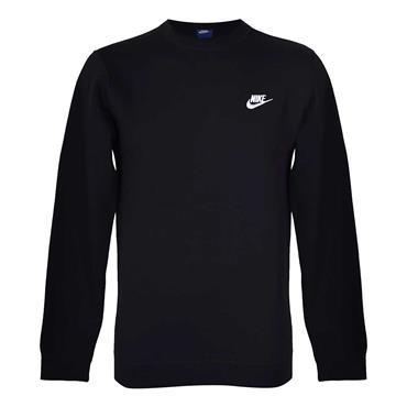 MENS CREW NECK CLUB SWEATSHIRT - BLACK