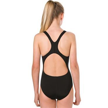 Speedo Girls Spashback Swimsuit - Black/Blue