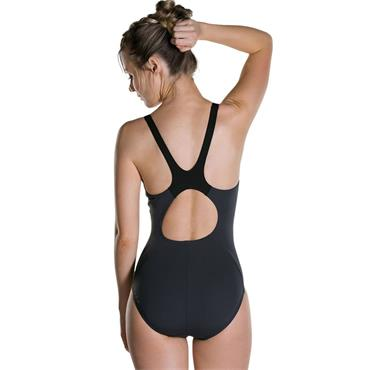 Speedo Womens Boom Splice Swimsuit - BLACK