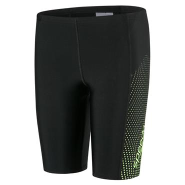 Speedo Boys Gala Logo Panel Swim Shorts - Black/Green