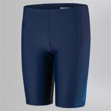 SPEEDO BOYS GALA LOGO PANEL SWIMSHORTS - NAVY/BLUE