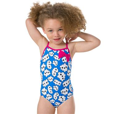Speedo Kids Bow 1 Piece Swimsuit - Pink/Blue