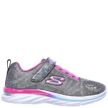 GIRLS QUICK KICKS SHIMMER TRAINER - GREY
