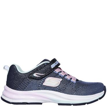 SKECHERS GIRLS DOUBLE STRIDES DUO DASH - NAVY/PINK
