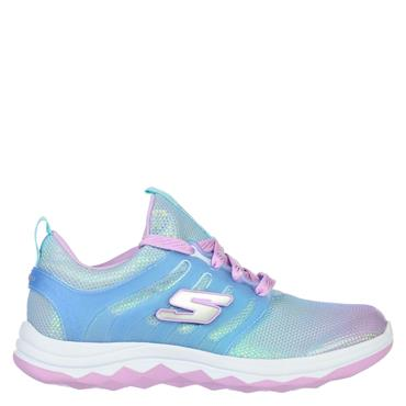 Skechers Girls Diamond Runner - Blue/Pink