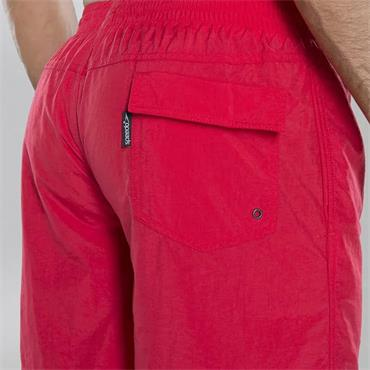 "Speedo Mens Solid 16"" Leisure Shorts - Red"