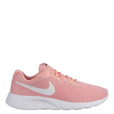 NIKE GIRLS TANJUN TRAINERS GS - CORAL/WHITE