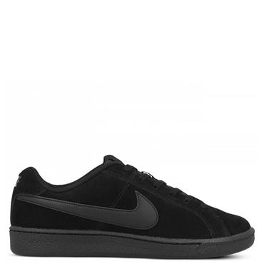 NIKE MENS COURT ROYALE SUEDE TRAINERS - BLACK