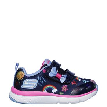 Skechers Girls Jump Lites Trainers - Navy/White