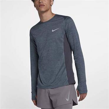 NIKE MENS LONGSLEEVE TRAINING TOP - BLUE