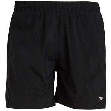 "Speedo Boys Solid Leis 15"" Swim Shorts - BLACK"