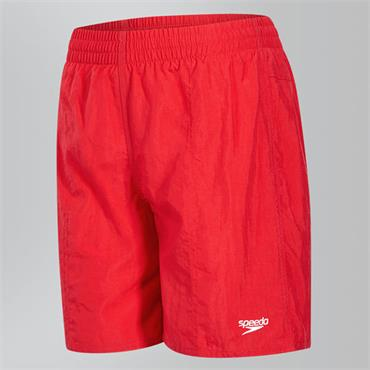 "Speedo Boys Solid Leis 15"" Swim Shorts - Red"
