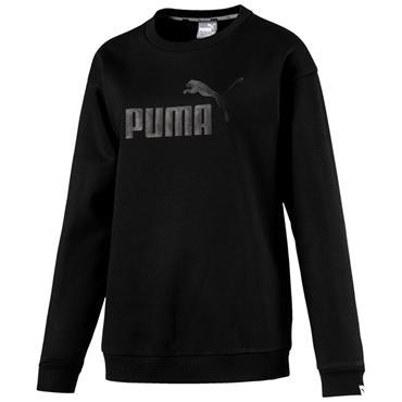 PUMA WOMENS LOGO SWEATSHIRT - BLACK