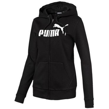 PUMA Womens Essentials Full Zip Hoodie - BLACK