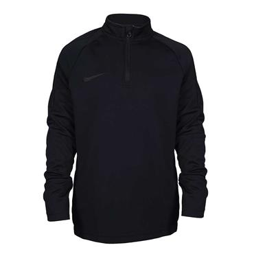 BOYS DRI FIT HALF ZIP TOP - BLACK