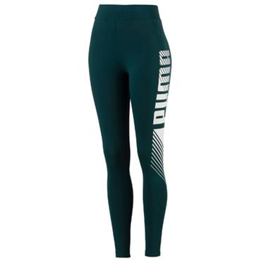 PUMA Womens Essentials Graphic Leggings - Green