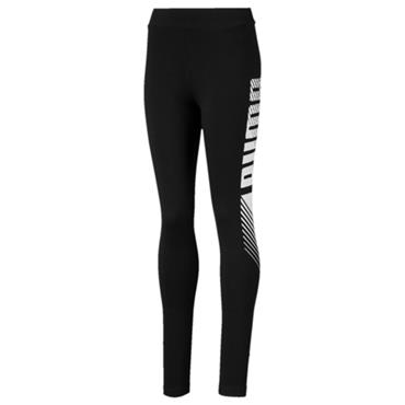 PUMA Girls Graphic Leggings - Black/White