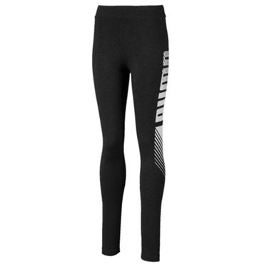 PUMA Girls Essentials Graphic Leggings - Grey