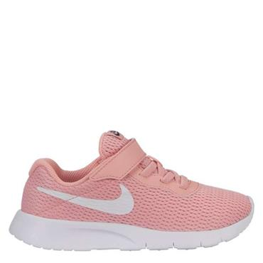 NIKE GIRLS TANJUN PSV TRAINERS - CORAL/WHITE