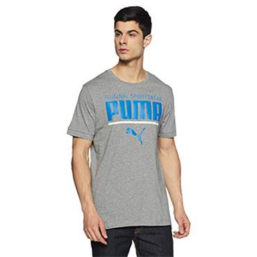 PUMA Mens Style Athletic T-Shirt - Grey