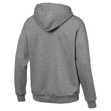 PUMA Mens Essentials Full Zip Big Logo Hoodie - Grey