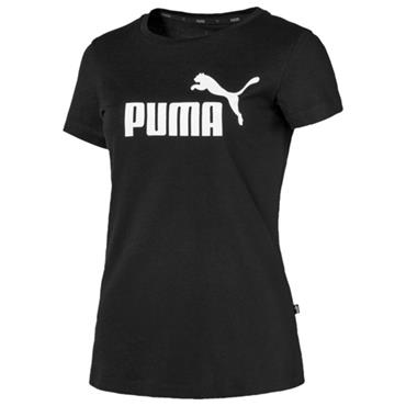 PUMA WOMENS ESSENTIAL LOGO TSHIRT - BLACK