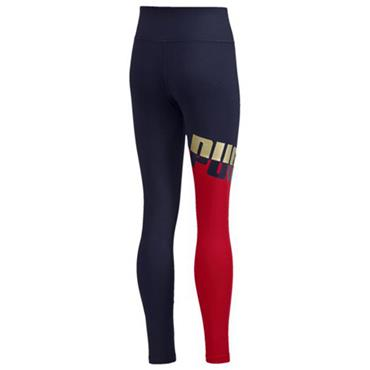 PUMA Girls A.C.E Leggings - Navy/Red