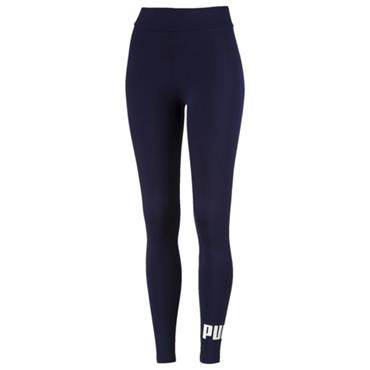 PUMA WOMENS ESSENTIAL LOGO LEGGINGS - NAVY