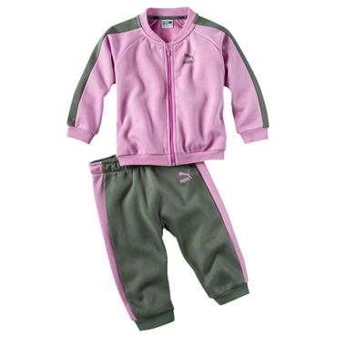 PUMA Baby Full Zip Jogger Tracksuit - Purple