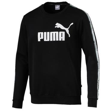 MENS TAPE CREW SWEATER - BLACK