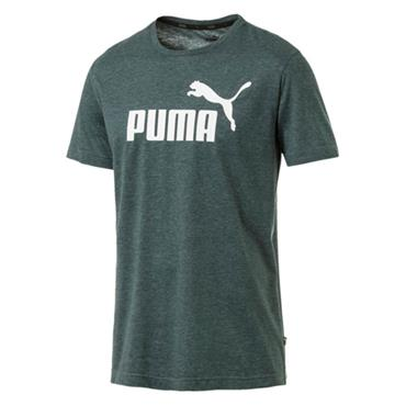 PUMA Mens Essnetials Heather T-Shirt - Green