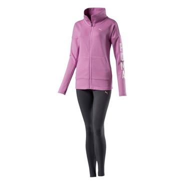 PUMA Womens Graphic Tracksuit - Purple