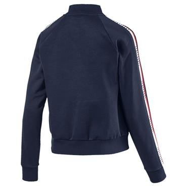 PUMA WOMENS TAPE FLEECE JACKET - NAVY